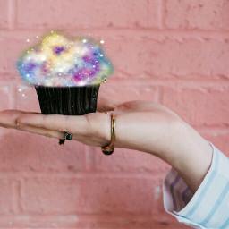 cupcake dessert star stars freetoedit