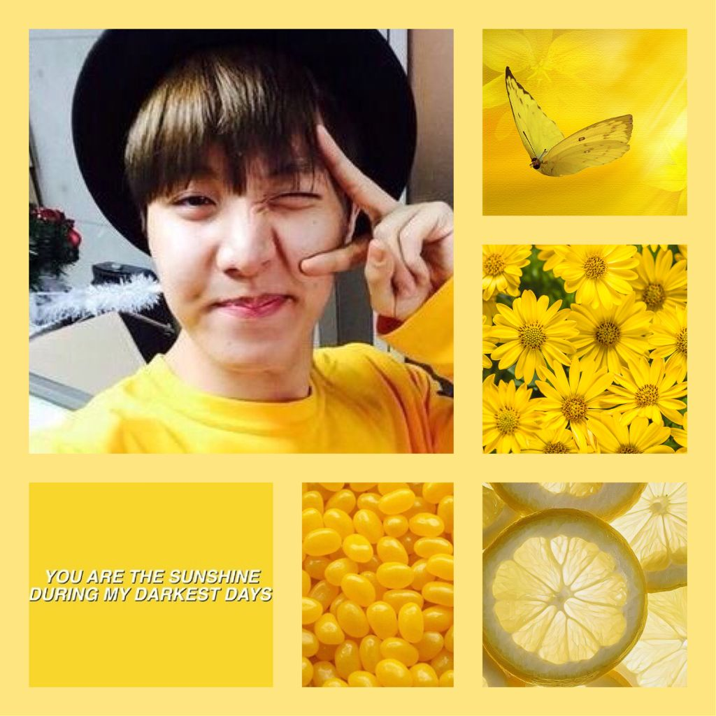 I wanted to make a bright new aesthetic for Hobi and