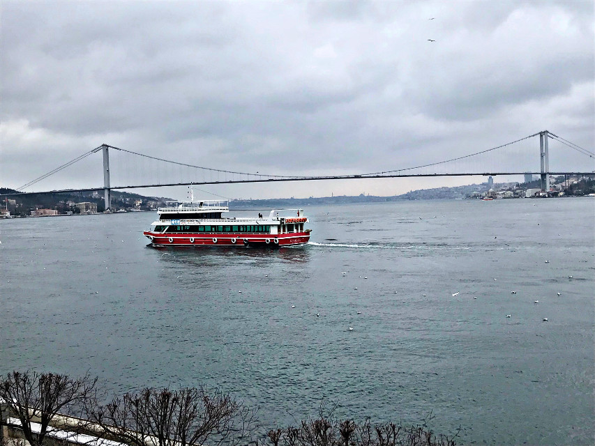 #freetoedit #sea #view #boats #bridge #highangle