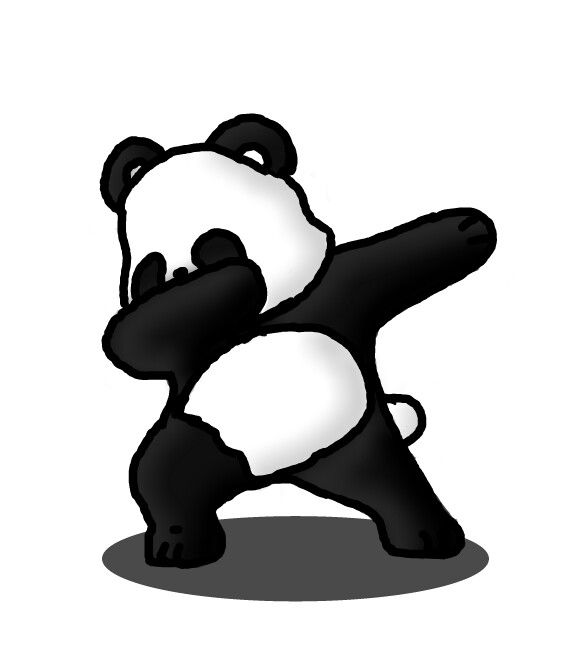 freetoedit panda black white cute dab dabbingpanda draw