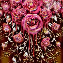 freetoedit background roses newbrushrainboweffect rosegoldeffect