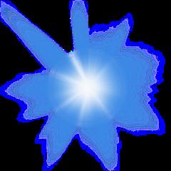 shine blue star explosion freetoedit