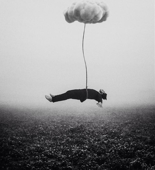 #edited #surreal #dark #floating #levitate