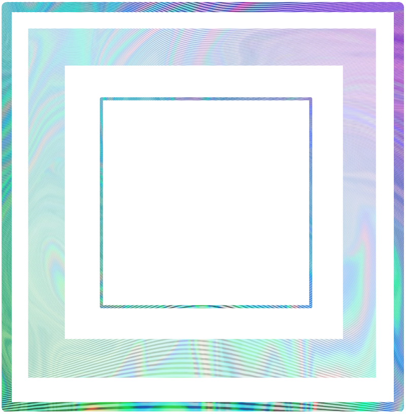 square squares frame holographic geometry...