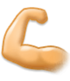 emojisticker strongarmemoji strongarm muscles strongarmemojipng