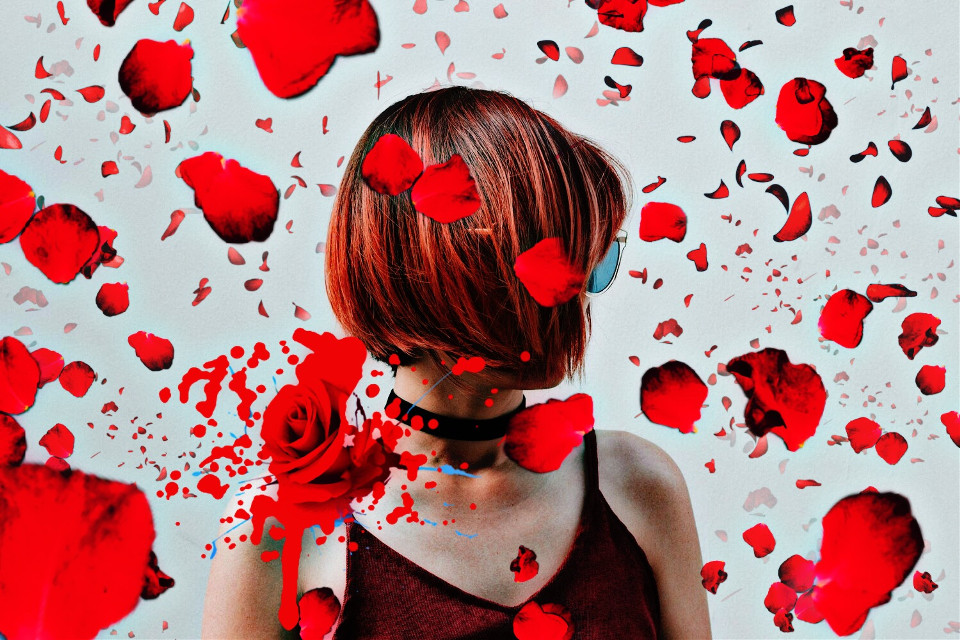 #freetoedit  #roses  #red #バラ #赤