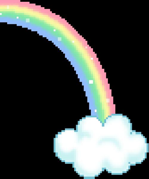rainbow pixelart aesthetic kawaii...
