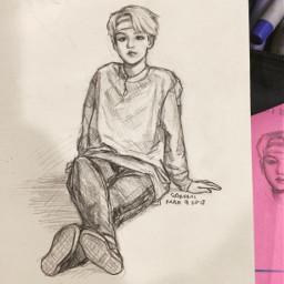 sketch illustration fanart bts suga