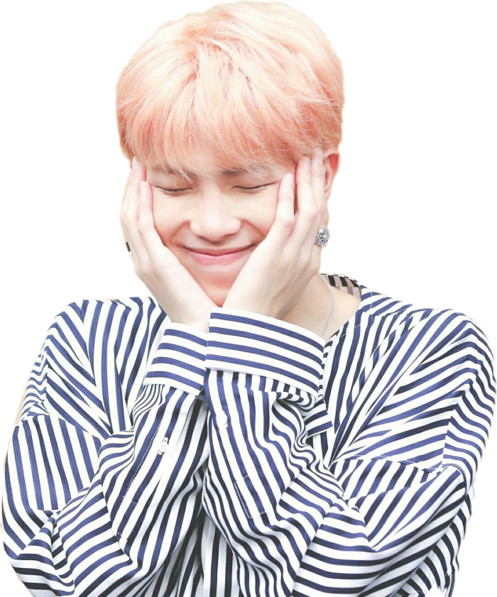 Namjoon Kimnamjoon Pinkhair Pink Stripes Rings Kpop Rm