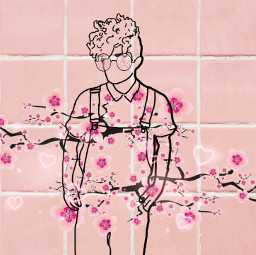 background pink pinkbackground hipster flowers freetoedit