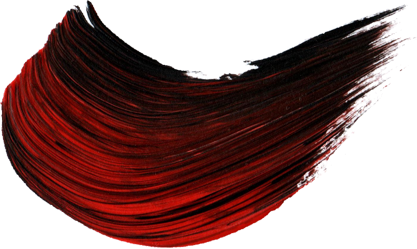 Paint Brush Stroke Black Red Sticker By Kat Suporn