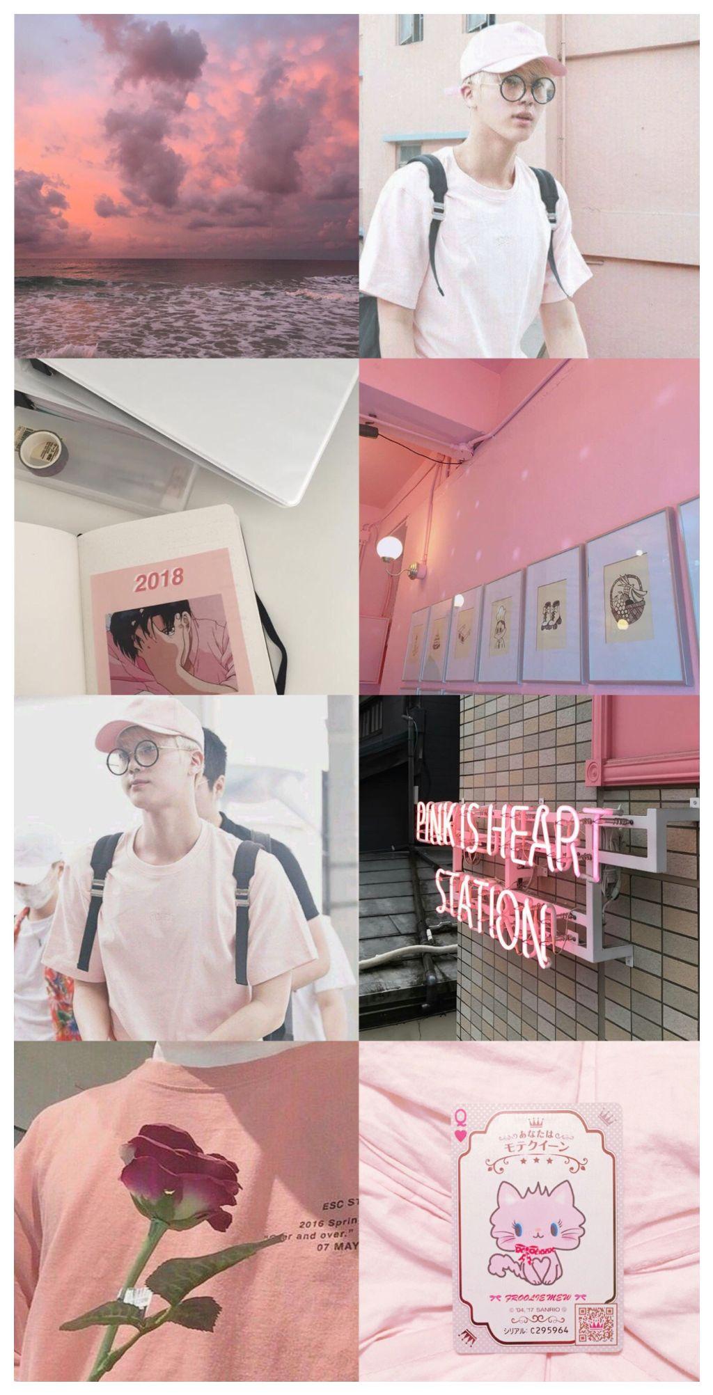 Picsart Bts Collage Jin Kimseokjin Wallpaper Wallpaper
