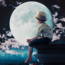 imagination_infocus creative night moon myedition