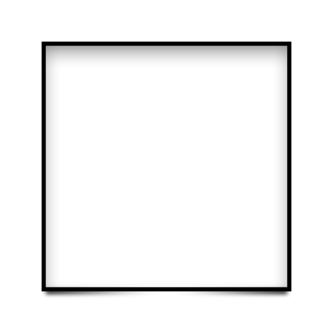 square frame lines black border simple style 4asno4i