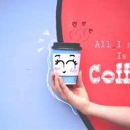 freetoedit coffee collage doodle