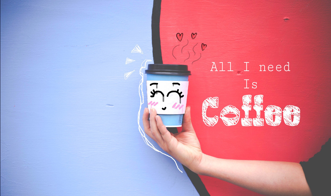 #freetoedit #coffee #collage #doodle