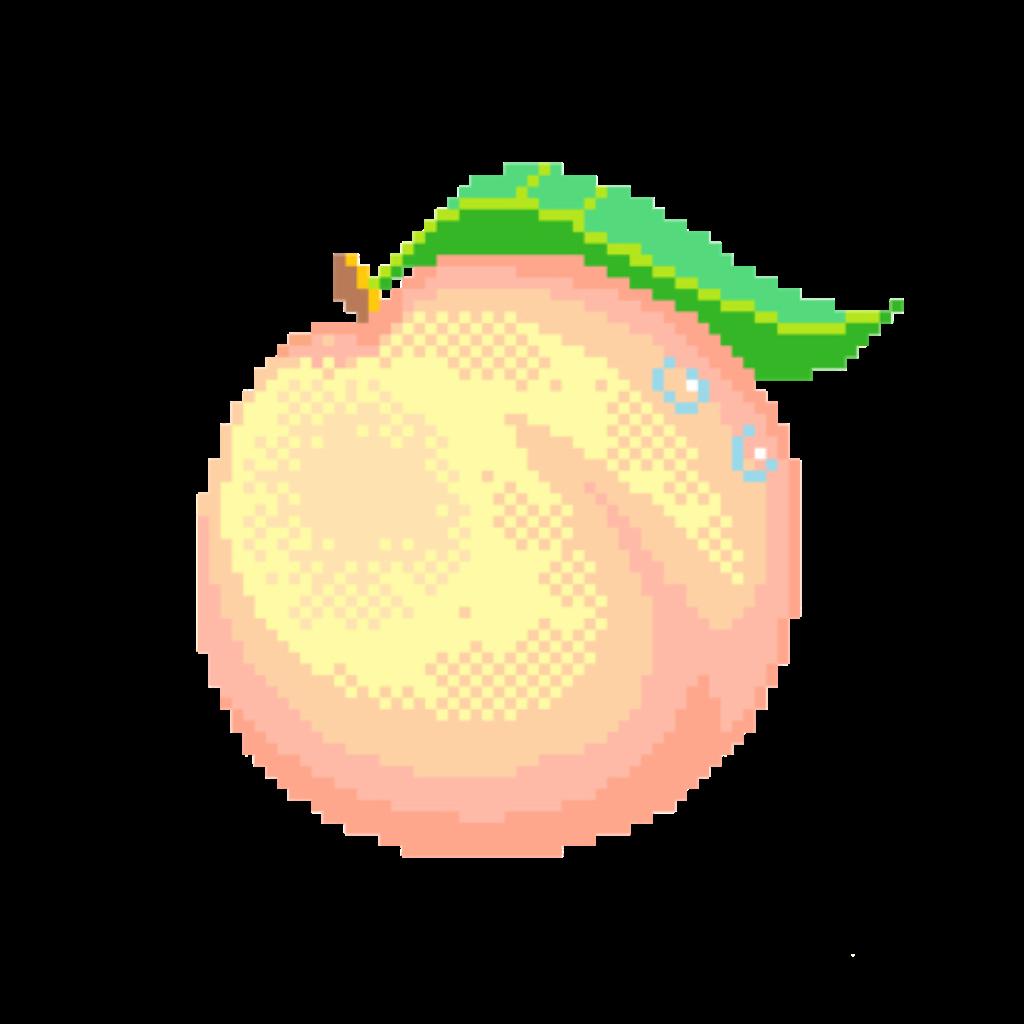 Peach Pastel Aesthetic Soft Pixel Pixelart