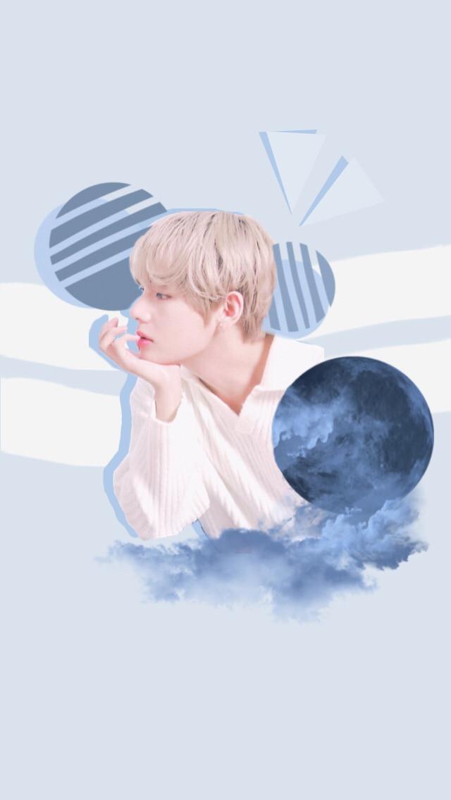 #taehyung #bts #wallpaper #blue #btsedit