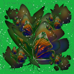 freetoedit butterflies greenmagiceffect shamrockbrush myedit