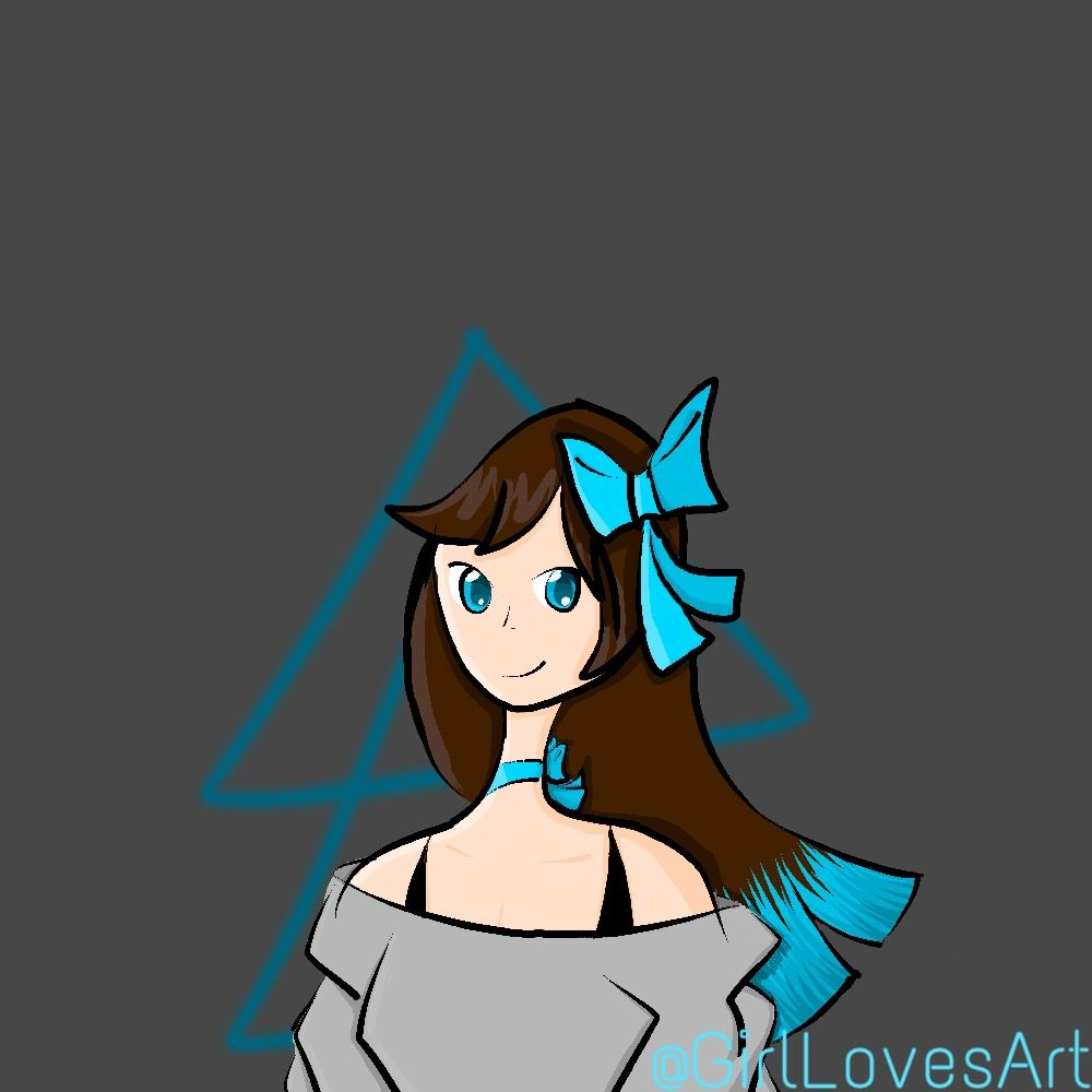 So did you like it? Tell me in the comments! Its been a while since I used picsart color though! #girllovesart #futuristic #gray #blue #girl #ribbons #hair #picsartcolor #drawing #original #partytime