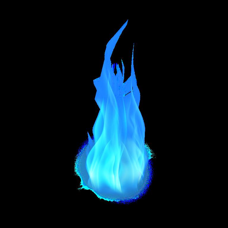 fire blue flames lit colored 3d