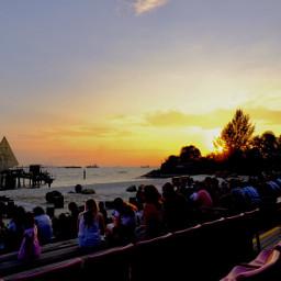 sunset sentosa singapore holiday pcsunset