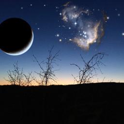 srcglittergalaxy glittergalaxy freetoedit moon galaxy