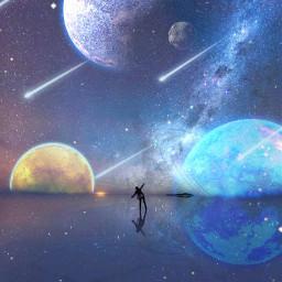freetoedit estrellas cometas estrellafugas galaxia srcglittergalaxy