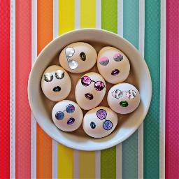 eggs glasses sunglaases lips colours