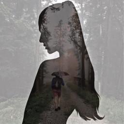 ircmysticallymisty mysticallymisty freetoedit doubleexposure woman
