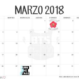 bts calendario 2018