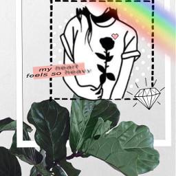 freetoedit rainbow heart