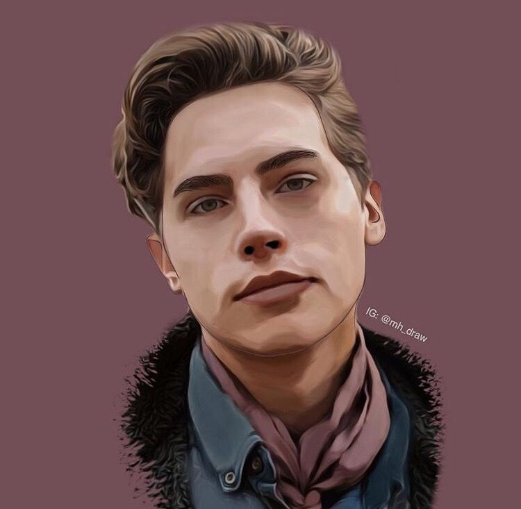 It's #jugheadjones ☺️ aka COLE SPROUSE   Got any suggestions for me to draw?  Dm me on instagram @mh_draw 😊   #riverdale #colesprouse #coleworld #art #picsart #painting #drawing #artist #mine #interesting #music #act #lilireinhart #bettycooper #jughead #freetoedit