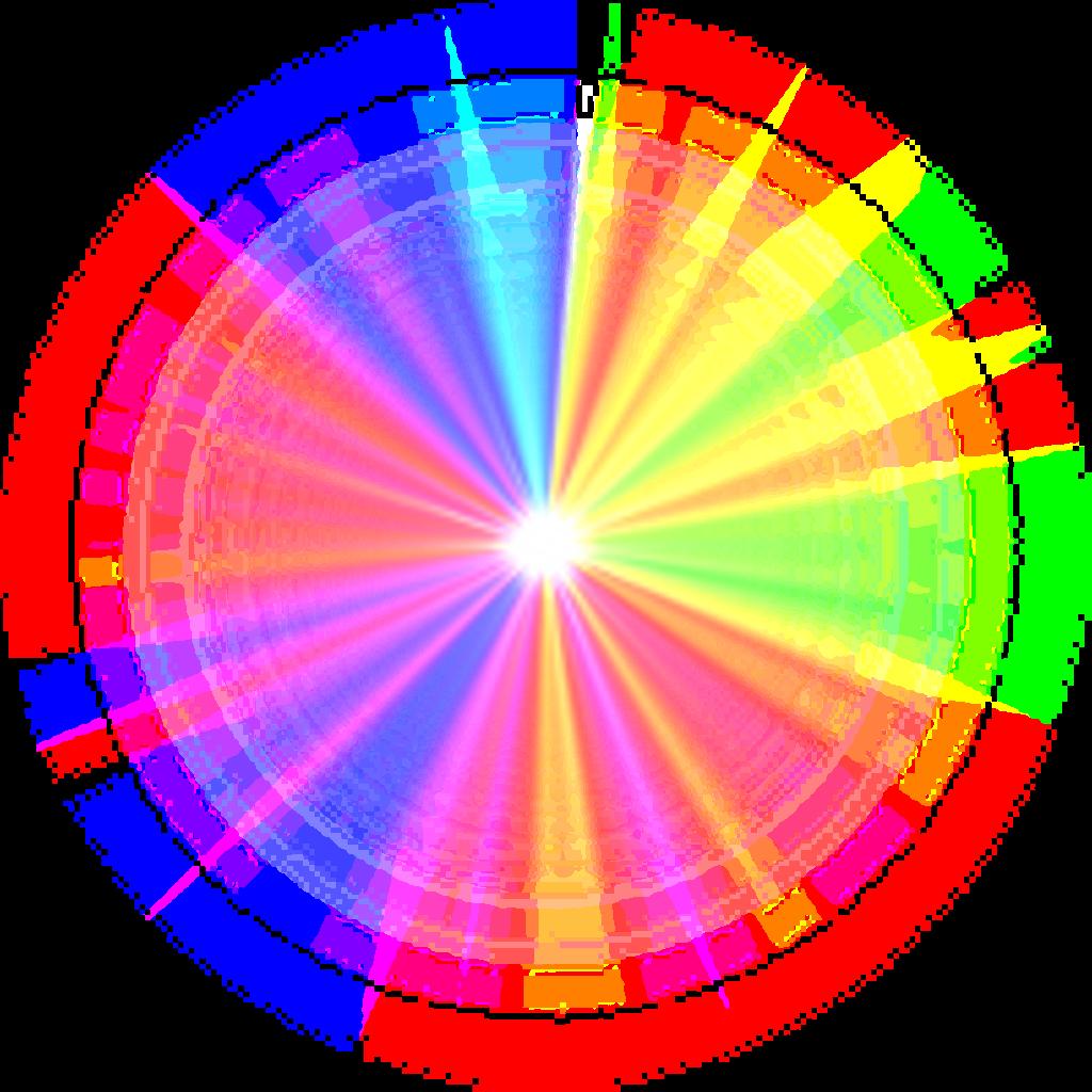 Rainbow Starlight Luminous Effect Geometric Galaxy Rain