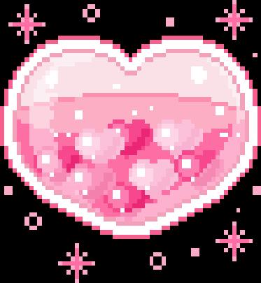 Heart Hearts Pink Love Pixel Art Pixelart Cute Kawaii