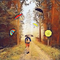 freetoedit remixit myedit umbrella colorful