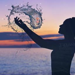 srcsplashofwater splashofwater silhouette woman yoga