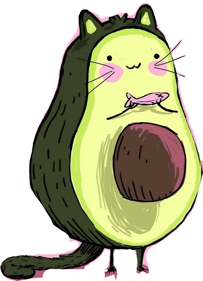 cute avocado cats sticker art tumblr freetoedit...
