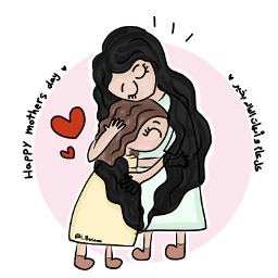 mother mothersday mothersday2018 mom love family hug character daughter daughterlove