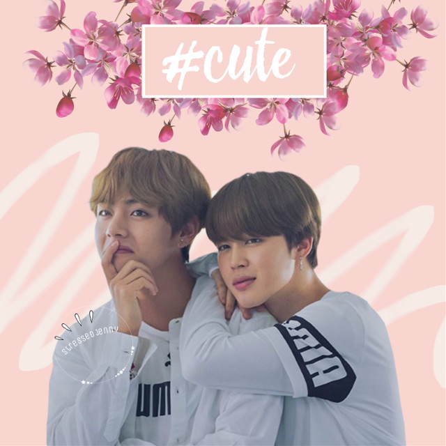 Remember, requests are always open. And if you want to chat, I'm good with that too! #freetoedit #jimin #taehyung #parkjimin #kimtaehyung #v #pumaxbts #cute #pink #peach #flower #white #bts #bangtanboys #beyondthescene