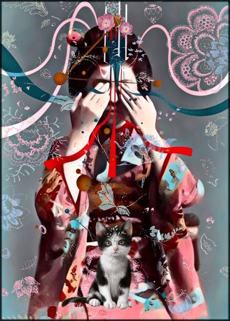#freetoedit been obsessed with #geisha s and their #ephemeral #beauty for a while but a new #obsession that keeps me busy is working with new #art apps including my new favourite one that uses #3d #lines and #curves goodtimes 🐙🤘🏻💀 #vintage #photography #edited and #pimpedout by #kzap