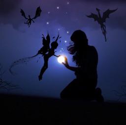 freetoedit myedit madewithpicsart fairy dragons
