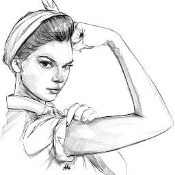 Strength Courage Girl WeCanDoIt WeCan FreeToEdit