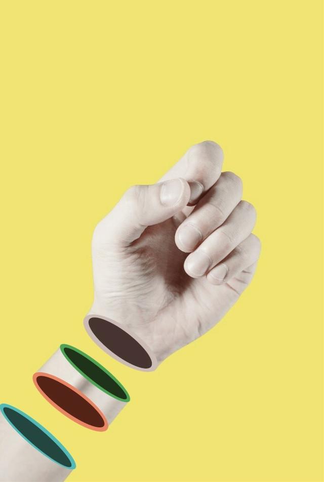 #freetoedit #simple #shapes #color #split #surrealism #hand #arm #remixit #picsart
