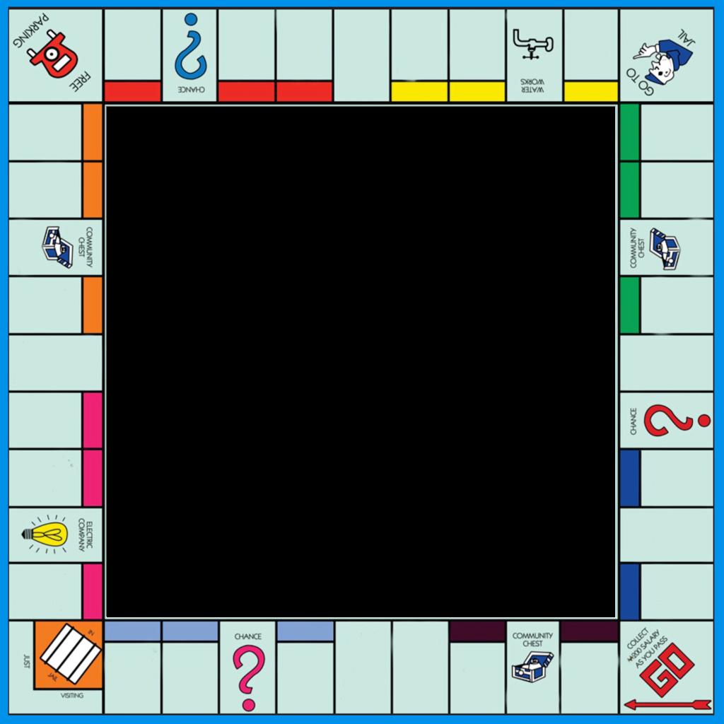 monopoly blank frame photoframe game gameboard boardgam