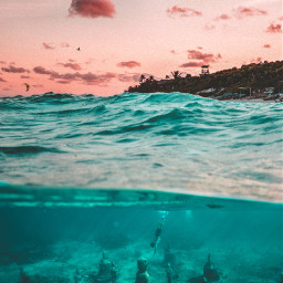 madewithpicsart edited underwater magical sky