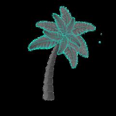 ftestickers oceanlove palmtrees poparteffect sparkles freetoedit