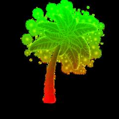 oceanlove palmtrees poparteffect sparkles sparkling ftestickers freetoedit