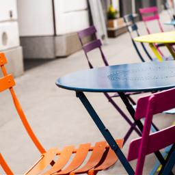 chairs gastgarten vienna colourfull ilike