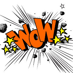 wow word expression effect comic freetoedit